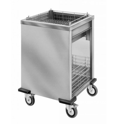Mobile Containing Wheeled Stacker unheated | Mobile Containing ORT-MS / A | 2/1 GN | 650x530mm