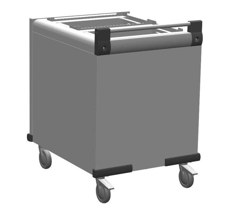 Mobile Containing Verrijdbare Stapelaar Onverwarmd | Mobile Containing DFR 2 x Dienbladen | Stapelunits op Maat Gemaakt