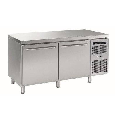Gram Refrigerated bakery Workbench | 2 Doors | Gram BAKER M MEB 1808 A DLB DRB L2 | 586L | 1698x800x885 / 950 (h) mm