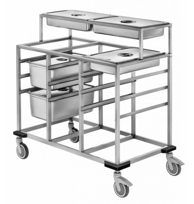 Mobile Containing Uitschepwagen 4 x 1/1 GN | Mobile Containing | 590x1450x910(h)mm