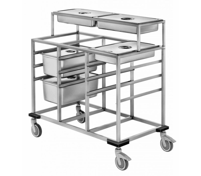 Mobile Containing Bain 3 x 1/1 GN + Detachable Structure 2 x 1/1 GN | Mobile Containing | 590x730x910 (h) mm