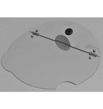 Mobile Containing Klappdeckel dient Suppe Well | 1/3 Edelstahl 2/3 Ausgeglichenes Glas | Mobil mit einem Gehalt