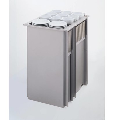 Mobile Containing Recessed Stacker Heated   Mobile Containing 2 THSG   for Tableware   Stack Unit Tailor Made