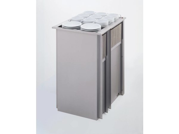 Mobile Containing Recessed Stacker Heated | Mobile Containing 2 THSG | for Tableware | Stack Unit Tailor Made