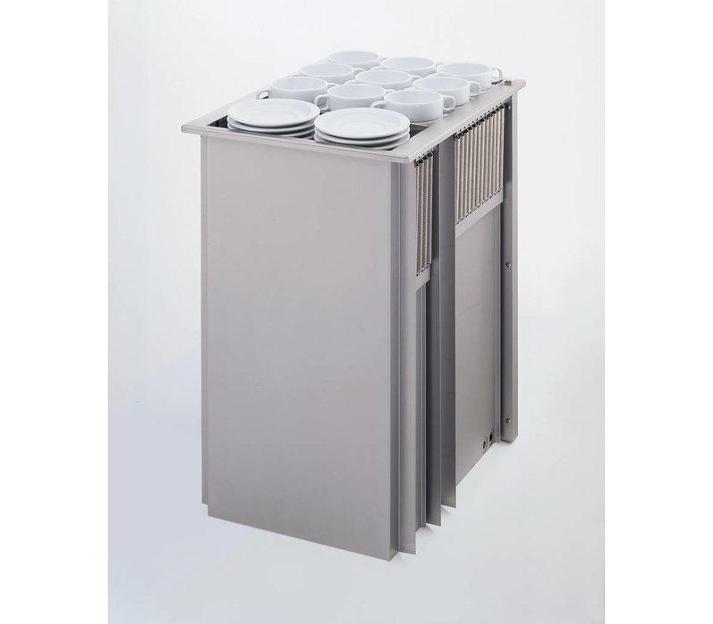 Mobile Containing Inbouwstapelaar Verwarmd | Mobile Containing 2 THSG | voor Servies | Stapelunit op Maat Gemaakt