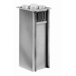 Mobile Containing Inbouwstapelaar Onverwarmd | Mobile Containing TSG | voor Servies | Stapelunit op Maat Gemaakt
