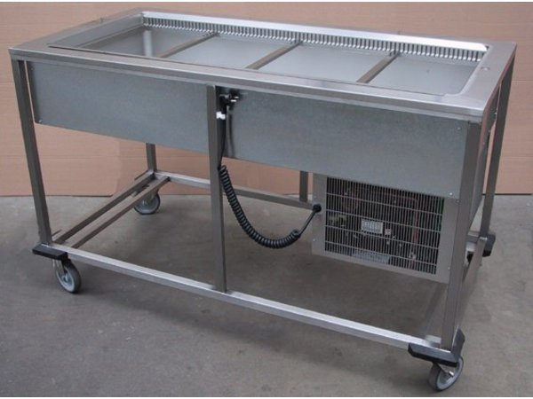 Mobile Containing Gekühlte Portioneerwagen | 4 x 1/1 GN | Mobil mit einem Gehalt