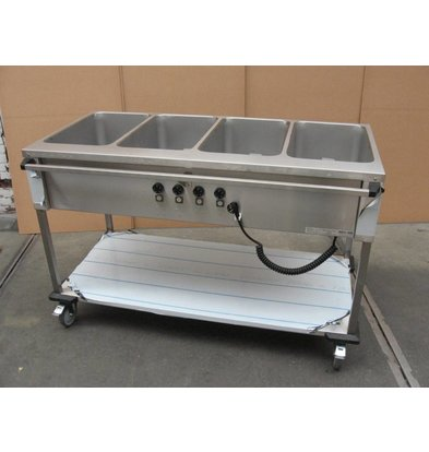 Mobile Containing Bain-Marie trolley 4 x 1/1 GN | Mobile Containing | 4x 850W | Operation Long Silk | 560x1449x902mm