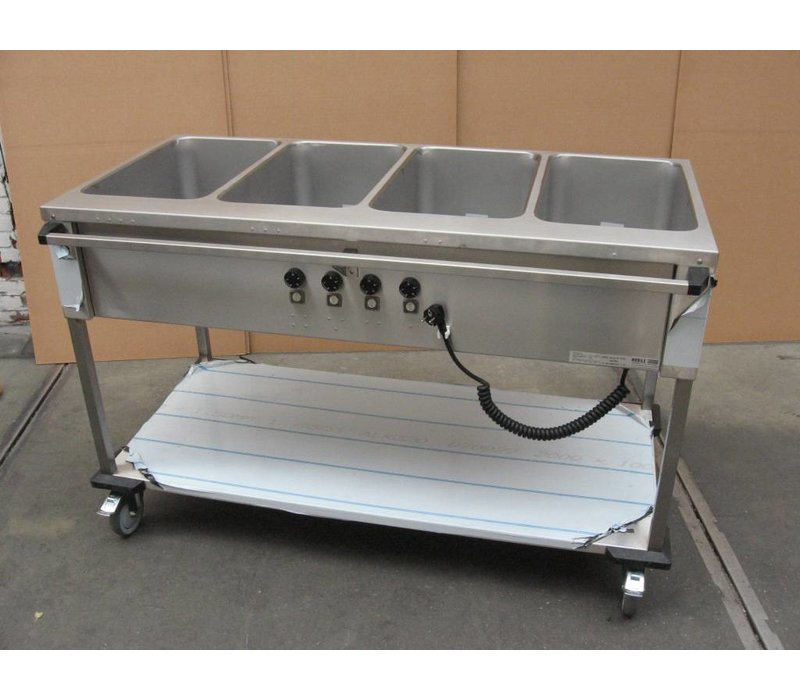 Mobile Containing Bain-Marie Wagen 4 x 1/1 GN | Mobile Containing | 4x 850W | Bediening Lange Zijde | 560x1449x902mm