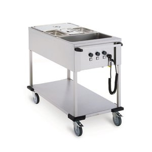 Mobile Containing Bain-Marie Wagen 3 x 1/1 GN | Mobil enthalten | 3x 850W | 560x1111x902mm