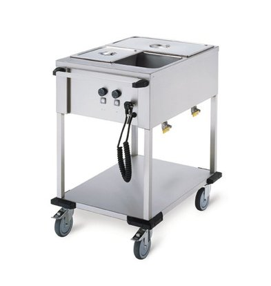 Mobile Containing Bain-Marie trolley 2 x 1/1 GN | Mobile Containing | 2x 850W | 560x774x902mm