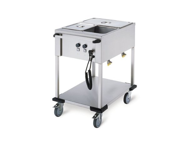 Mobile Containing Bain-Marie Wagen 2 x 1/1 GN | Mobil enthalten | 2x 850W | 560x774x902mm