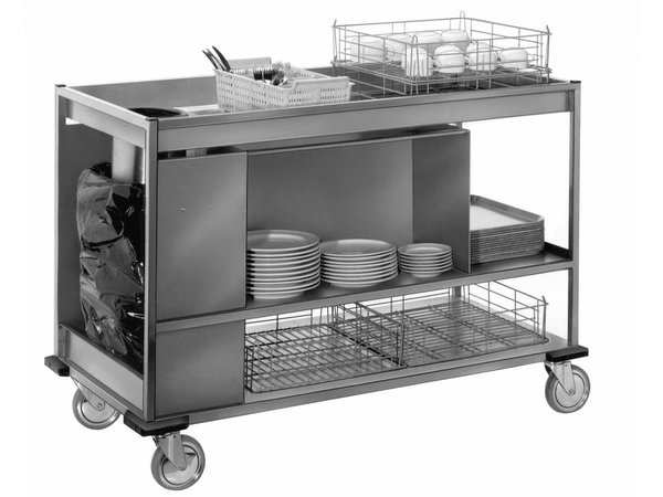 Mobile Containing Clearing trolley Large | Mobile Containing | 620x1410x996 (h) mm