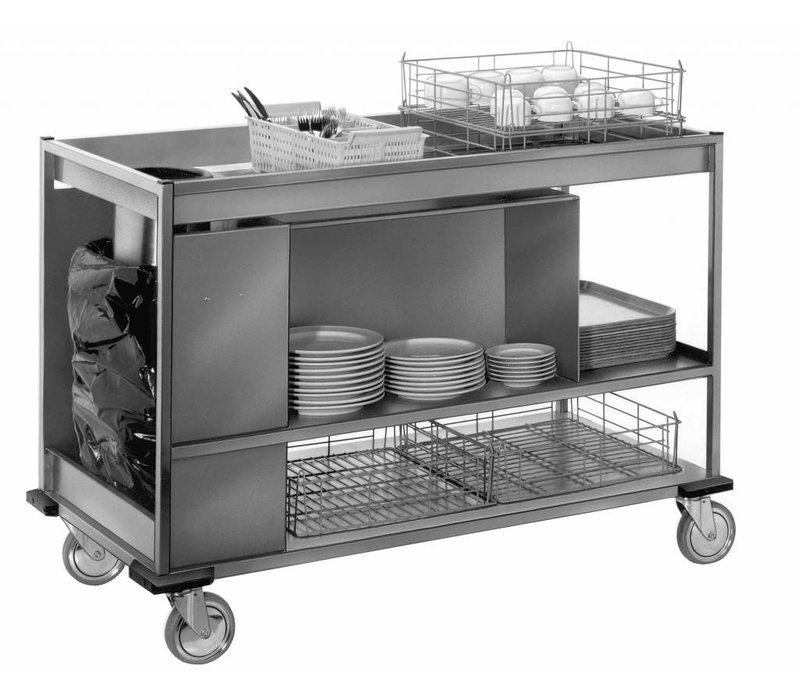Mobile Containing Afruimwagen Groot   Mobile Containing   620x1410x996(h)mm