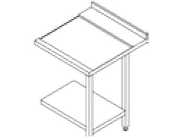 Rhima Stainless steel side table (right) | RHIMA 3000 0267