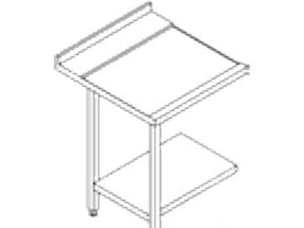 Rhima Stainless steel side table (Left) | RHIMA 3000 0268