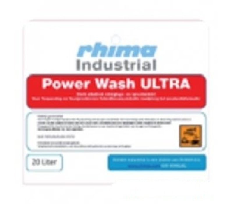Rhima Detergent Wash Ultra Pro | PE-Can 20 Liter | Baked-on / Crates Washing Machines