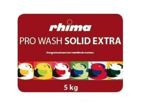 Rhima Vaatwasmiddel Pro Wash Solid Extra | Container 2 x 5kg