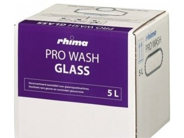 Rhima Detergent Wash Pro Glass | Bag in Box | 5 liter