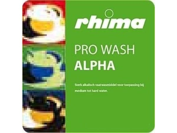 Rhima Vaatwasmiddel Pro Wash Alpha | Bag in Box | 10 liter