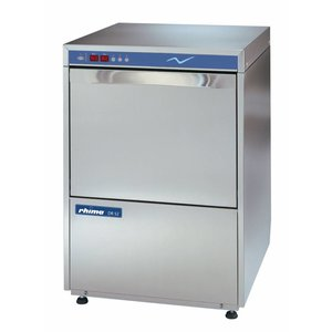 Rhima Dishwasher 50x50cm | RHIMA DR52E | Suitable for Crates / Shelves | 400V