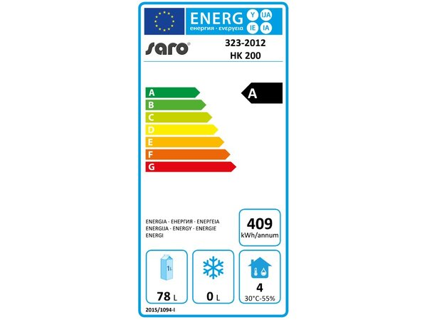 Saro Refrigerator - 130 liters - 60x58x (h) 85cm - 2 years warranty