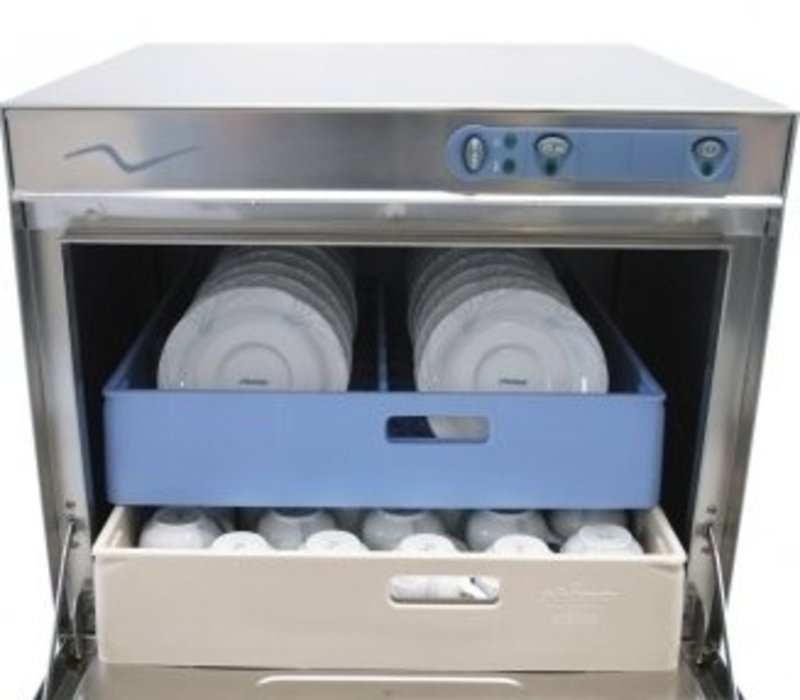 Rhima Dishwasher 50x50cm   RHIMA DR50 Plus   Choice 230 / 400V   Incl. Break Tank and Naspoeldrukverhogingspomp