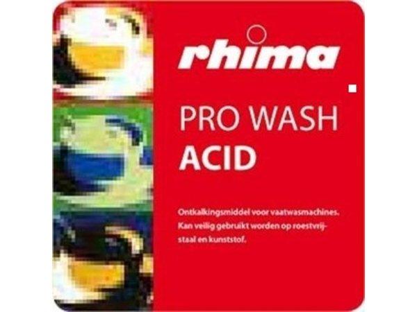 Rhima Ontkalkingsmiddel Pro Wash Acid   PE-Can 2 x 5 liter