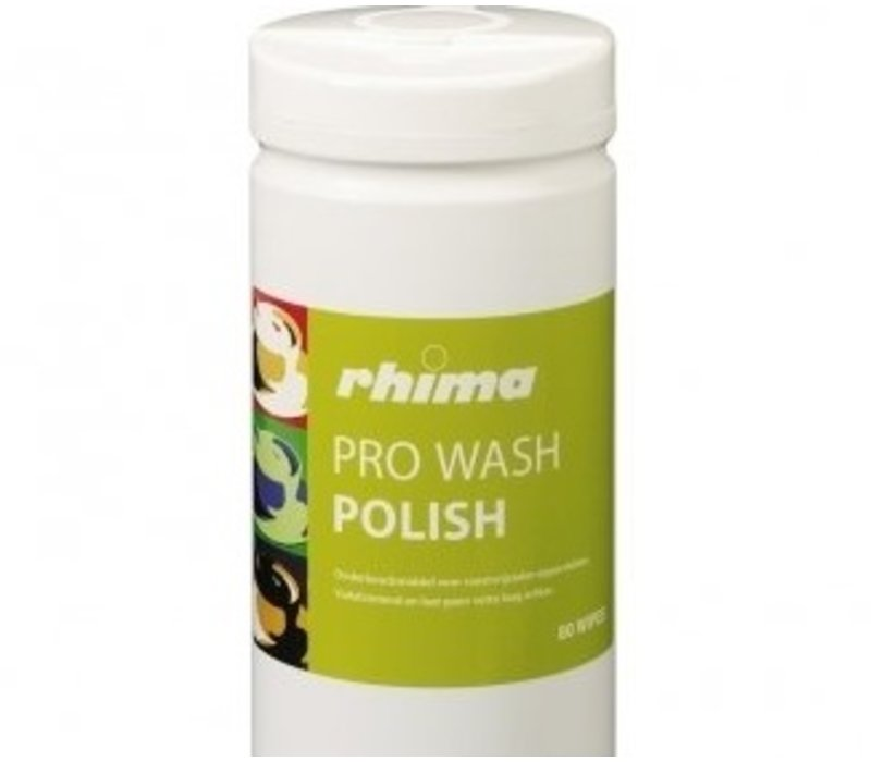 Rhima Onderhoudsmiddel Pro Wash Polish | Doos 6 x 80 wipes