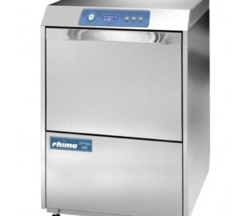 Rhima Glazenspoelmachine 50x50cm | Rhima Optima 500S Plus | Incl. Waterontharder | 600x610x825mm