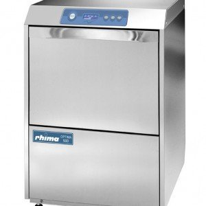 Rhima Glazenspoelmachine +Afvoerpomp 40x40cm   Rhima Optima 400 Plus   6 Wasprogramma's   450x535x720mm