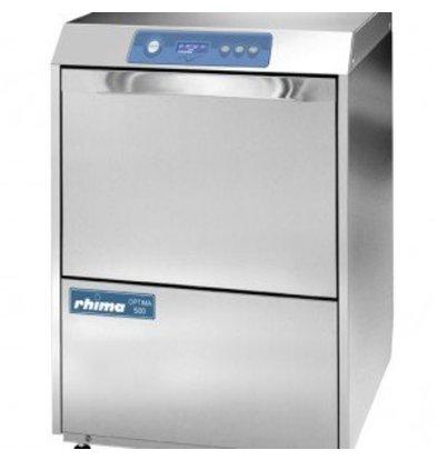 Rhima Gläserspüler + Ablaufpumpe 40x40cm | Rhima Optima 400 plus | 6 Spülprogramme | 450x535x720mm