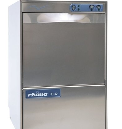 Rhima Glazenspoelmachine 40x40cm | Rhima DR40S | Incl. Waterontharder | 460x545x715mm