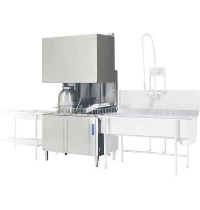 Rhima Pass Trough Dishwasher 50x50cm | RHIMA WD12GHE | 400V | 1200x770x1910 / 2420mm