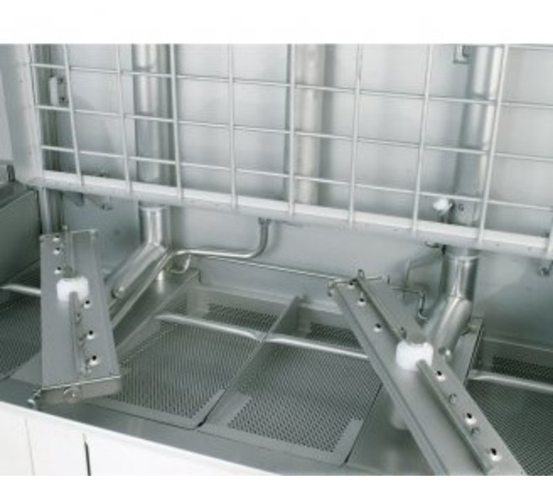 Rhima Doorschuifvaatwasser 50x50cm   Rhima WD12GHE   400V   1200x770x1910/2420mm