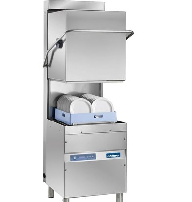 Rhima Pass-through dishwasher 50x50cm Rhima OPTIMA 600 HR PLUS | Incl. Energy-saving Steam Condenser Unit