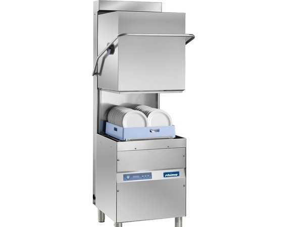 Rhima Korbdurchschub- Geschirrspüler 50x50cm   Rhima OPTIMA 600 HR PLUS   Inkl. Energiesparende Dampf kondensierende Maßeinheit