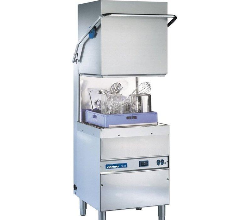 Rhima Pass Trough Dishwasher 50x50cm | RHIMA DR60i PLUS | Incl. Break Tank and Naspoeldrukverhogingspomp | 400V
