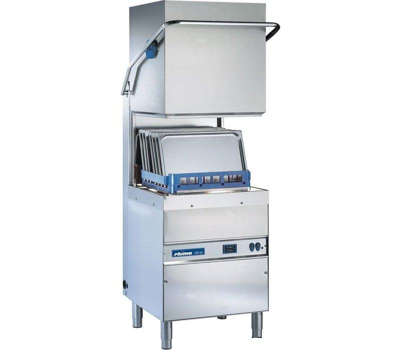 Rhima Korbdurchschub- Geschirrspüler 50x50cm | Rhima DR59 PLUS | Inkl. VBH und Naspoeldrukverhogingspomp | 400V