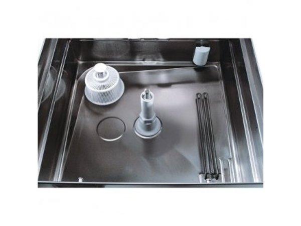 Rhima Doorschuifvaatwasser 50x50cm | Rhima DR59 PLUS | Incl. Breaktank en Naspoeldrukverhogingspomp | 400V