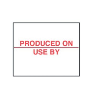 XXLselect Labels: Produced On/Use | 20x16mm
