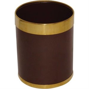 Bolero Prullenbak | Goudkleurige Rand | 10ltr | 280(h)mm