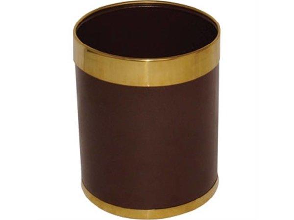 Bolero Müll | Gold farbigen Rand | 10ltr | 280 (h) mm