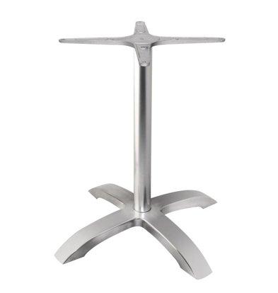 Bolero Tafelpoot Geborsteld Aluminium | Bolero | 680(h)mm