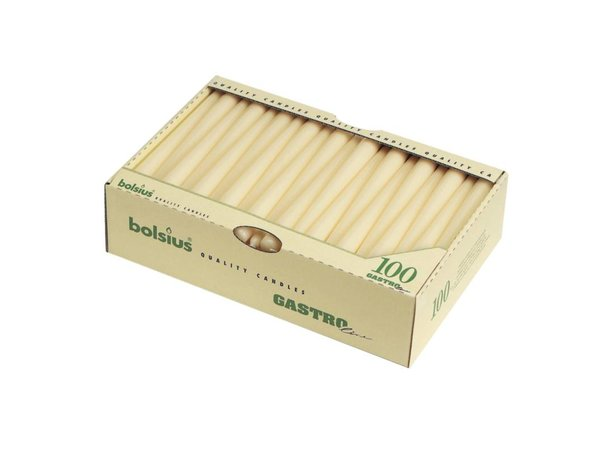 Bolsius Gotische Kaarsen Wit | Bolsius  | 100 Stuks