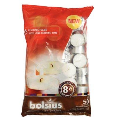 Bolsius Bolsius Theelichtjes | Zak van 50 Stuks