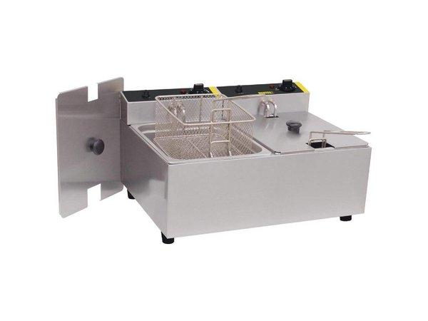 Buffalo Compact Fryer | 5 + 5 Liter | Incl. Körbe und Deckel | 2x 2,8kW