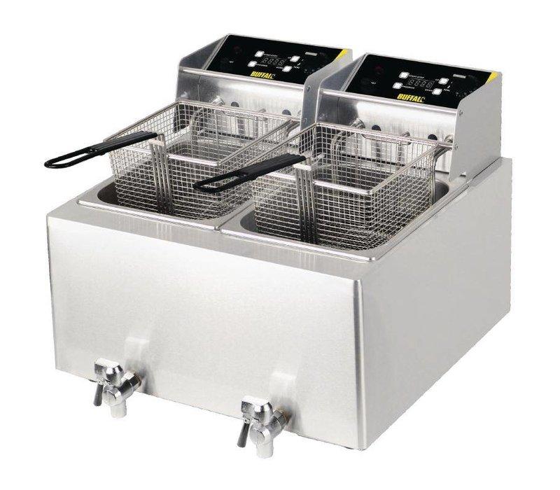 Buffalo Doppel Fryer Catering   2x 8 ltr   mit Timer   2x 2,9kw