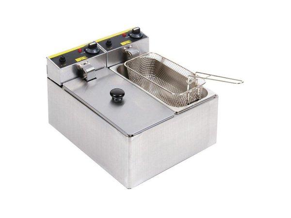 Buffalo Fryer 3 + 3 Liter | Incl. Lids und Körbe | 2x 2 kW