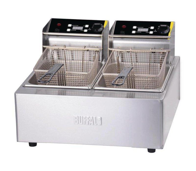 Buffalo Fryer 5 + 5L Digital | Incl. Körbe und Deckel | 2x 2,8kW